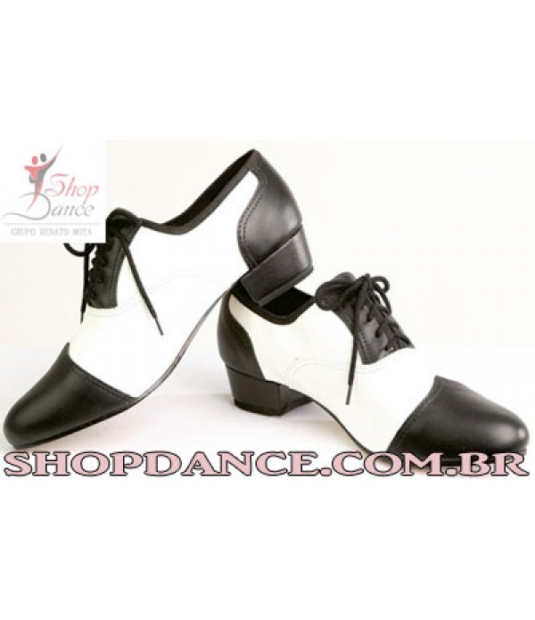 Sapato Cj 011 bicolor com detalhe no bico
