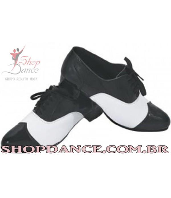 Sapato Cj 01 bicolor com detalhe no bico
